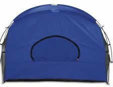 New Park Camping Cove Sun Shelter in Blue Grey and Silver Camping Ground