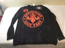 Affliction Mens Reversible Thermal Shirt BIG Size XXL Long Sleeve NEW