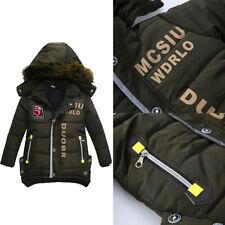 Enfant Garçon Doudoune Blouson Manteau Capuche Cotton Jacket Hiver Chaude Mode