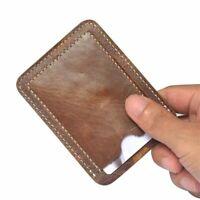 Brown Slim Credit Card ID Card Holder Case Bag Wallet Protector Holder
