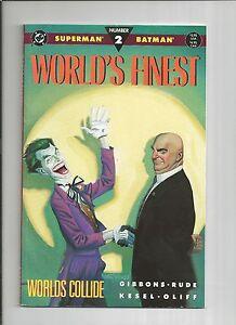 WORLD'S FINEST mini-series #1 #2 #3 1-3  9.2 NM-  Superman Batman JOKER 1990 DC