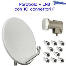KIT PARABOLA ANTENNA SATELLITARE 60cm IN ACCIAIO CON LNB 0,2db