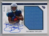 TAYWAN TAYLOR - 2017 National Treasures Rookie Patch AUTO /99 Titans RC