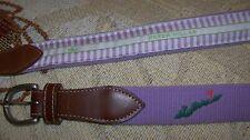 Mint PETER MILLAR Belt FISHERS ISLAND GOLF CLUB Logo Size S 28 - 30 Purple RARE