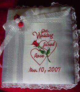 Personalized Satin Covered Wedding Bridal Bride Groom Photo Album Scrapbook