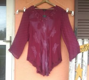 NWT Greater Good Women 1X 2X Tunic Top Pullover LONG SLEEVE