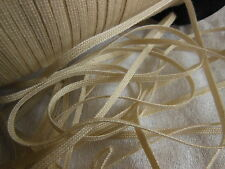 biais vintage ruban plat cordon beige créme  lacet corsage 10 mètre
