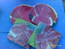 Lot of Watermelon Themed Party Supplies - Watermelon Plates & Napkins