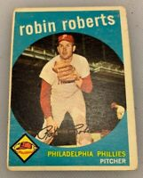 1959 Topps # 352 Robin Roberts Baseball Card Philadelphia Phillies HOF