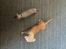 2 vintage small cast iron? dogs. One is a bobble head. 1.25 x 3� approx