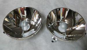 2X HEAD LIGHT REFLECTORs fits  220se  280se 300SE  3.5 coupe w111 W108 Mercedes
