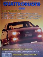 Quattroruote 483 1996 Peugeot 406 prova completa. Opel Vectra 1.6 16v. A4 [Q.63]