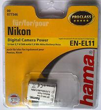 077346 hama° Nikon EN-EL11 Coolpix S550/S560 Pentax D-Li78 Optio Ricoh DB80 R50