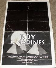 Vintage Cool 90's ROY & NADINES RESTAURANT Menu-LEXINGTON, KY~TUNA NICOISE $8.95