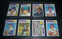 1977 TOPPS MILWAUKEE BREWERS TEAM SET 25 CARDS EX-NM ROBIN YOUNT GORMAN THOMAS