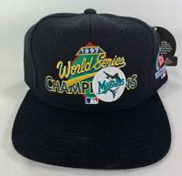 1997 World Series Off. Clubhouse Cap, Marlins World Series Hat, NOS- Black