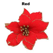 8 Stück Funkeln Hohl Hochzeit Weihnachten Blumen Weihnachtsbaum Dekorationen