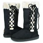 New Women's Mid Calf Winter Snow Fur Suede Fashion comfortable Boots Size 5 -10