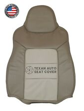 03 04 Ford Expedition Eddie Bauer 5.4L -Driver Lean Back Leather Seat Cover Tan