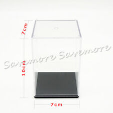US Perspex Display Case Acrylic Clear Box Plastic Base Dustproof Figure Toys New