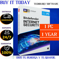 Bitdefender Internet Security 2019 1 User 1 YEAR Digital Code