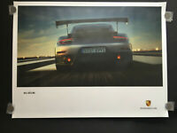 PORSCHE OFFICIAL 991 911 GT2 RS SHOWROOM POSTER REAR VIEW 2018 RARE NEW.