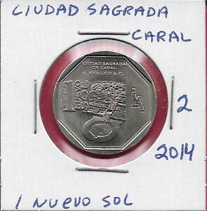PERU 1 NUEVO SOL 2014 UNC CIUDAD SAGRADA DE CARAL,WEALTH & PRIDE OF PERU,NATION