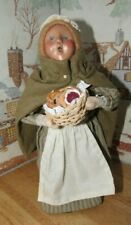 BYERS CHOICE Williamsburg Girl with Basket of Baked Goods 1998 *