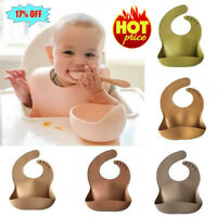 1x Silicone Bib Food Grade Waterproof Bib Silicone Drool Bib For Children