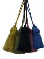 Conso Empress Collection 21919 M52 Solid MIDNIGHT BLUE Drapery Tassel Tieback