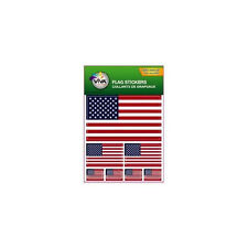 USA , SET OF 7  COUNTRY FLAG VINYL CAR STICKERS , 3 SIZES..NEW