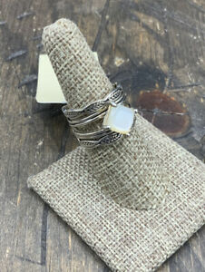 Barse Dreamweaver Ring- Mother of Pearl- Sterling Silver- 7.5- NWT