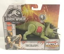 Mattel Jurassic World Battle Damage Dinosaur Triceratops Ships In Bubble Mailer