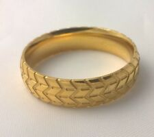 G-Filled Mens 18k yellow gold wedding band 6mm ring car tyre comfort US 12 AUS Y