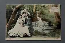 R&L Postcard: J Welch JWS 2572 Edwardian Scene, Kissing Man & Woman