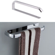 Stainless Steel Single Towel Bar Rail Rack Holder Rod Bathroom Wall Mounted Top
