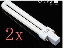 2 Lampara Repuesto UV Secador Uñas 9W Ultravioleta Manicura Tubo Bombilla focos