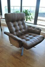 More details for vintage danish leather lounge chair by ebbe gehl soren nissen - 1970s
