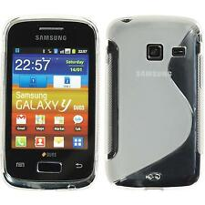 Silicone Case for Samsung Galaxy Y Duos S-Style transparent + protective foils