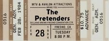THE PRETENDERS 1984 LEARNING TO CRAWL TOUR UNUSED SELLAND ARENA CONCERT TICKET