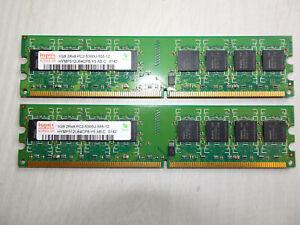 2,5GB (2x1GB + 1x512MB) DDR2 667MHz PC-5300 DIMM PC RAM Speicher