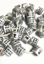 100pcs*12mm personal names customized bands for racing pigeon birds leg rings