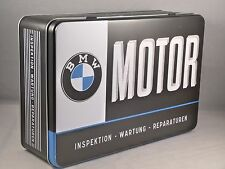 BMW MOTOR SERVICE - Metal Box Flat by Nostalgic Art