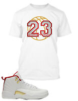 23 Graphic T shirt To match Air Jordan 12 FIBA Shoe Men's Tee Shirt Pro Club Tee