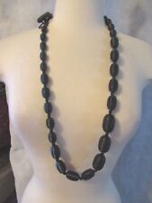 PONO Joan Goodman Black Tapered Bead Long Necklace NWOT