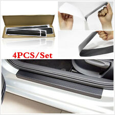 Universal 4pcs Carbon Fiber Car Door Sill Plate Scuff Sticker Anti-kick Scratch