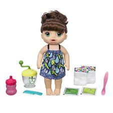 Baby Alive Sweet Spoonfuls Doll Girl Brunette Eats Drinks Pees Poops Diaper NEW