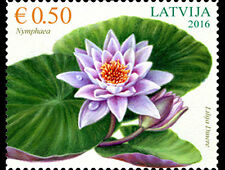 Water Lily mnh stamp 2016 Latvia