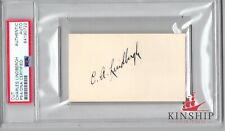 Charles Lindbergh signed cut PSA DNA Slabbed Bold Auto Aviator d.1974 C414