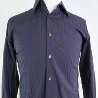 BANANA REPUBLIC SLIM FIT DARK STRIPED BUTTON DOWN DRESS SHIRT MENS SZ M 15/15.5